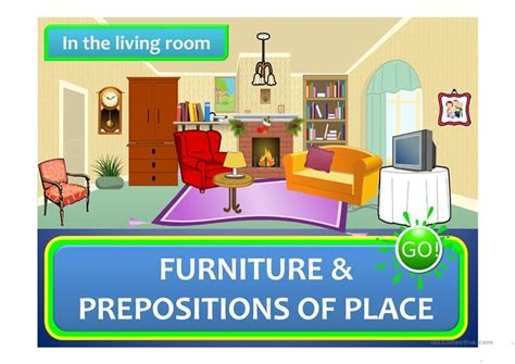 How To Describe Your Living Room In In The Living Room Furniture Prepositions Of Place A