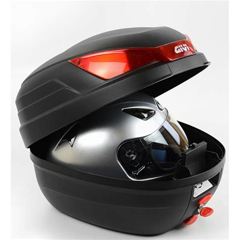 Givi Box B27 N Original top monolock givi b27 nmal 27 litres noir gaufr 233 avec