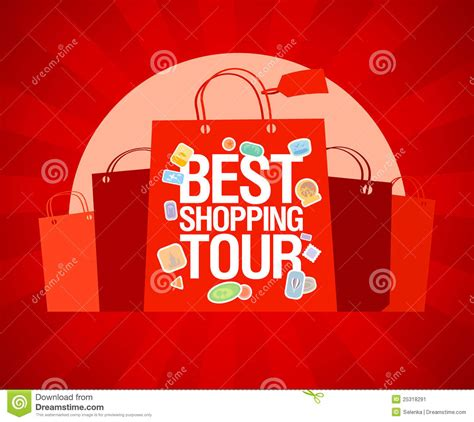 Tour Design Template by Best Shopping Tour Design Template Stock Vector Image