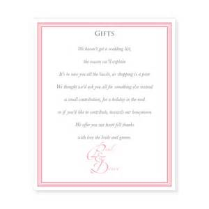 Ideas requesting money for wedding gift wording gift list wording