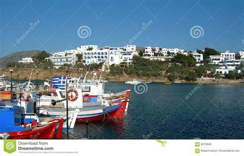 lade da pesca arquitetura grega de cyclades do porto dos barcos de pesca
