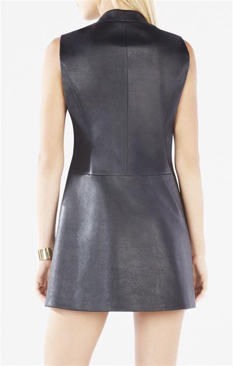 Faux Leather Vest caryn faux leather wrap vest dress