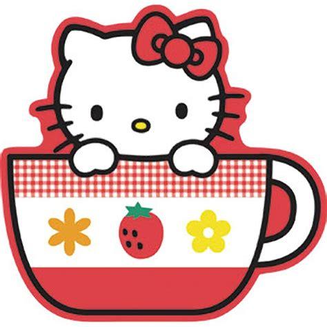 kitty tea cup sticker
