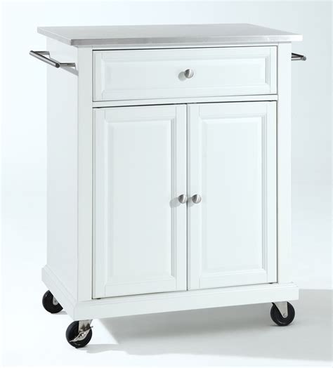 stainless steel portable kitchen island stainless steel top portable kitchen cart contemporary