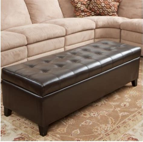 Fulham Bonded Leather Storage Ottoman