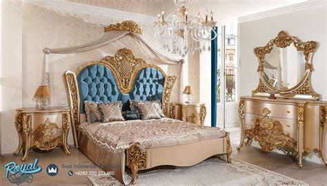 bedroom set tempat tidur mewah klasik gold analiz mebel jepara terbaru royal furniture indonesia