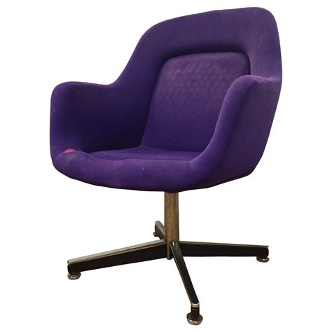 purple knoll swivel chair chairish