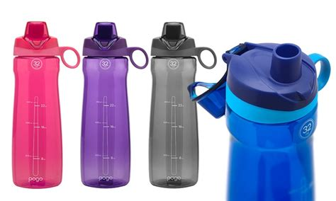 Botol Flip Top pogo 32 oz bpa free flip top water bottle 2 pack groupon