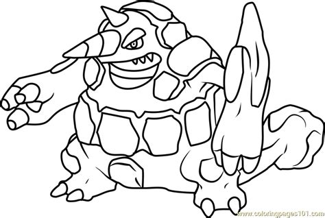 pokemon coloring pages rhyperior rhyperior pokemon coloring page free pok 233 mon coloring
