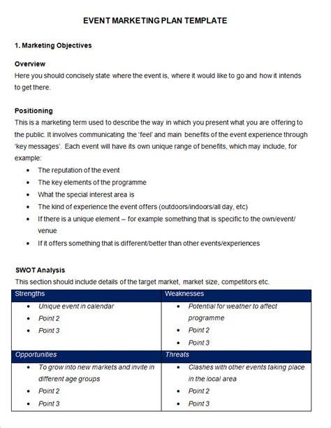 event marketing plan template   word documents   premium templates