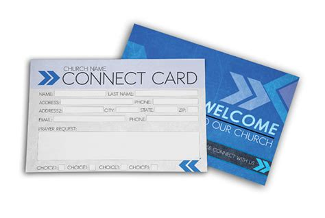 Youth Connection Card Template by Church Connect Card Blue Digital316 Net