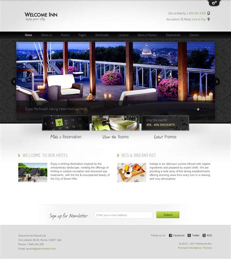 theme hotel for pc premium one page wordpress themes 4 pc