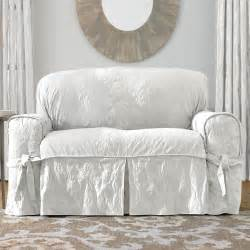 white slipcovers sure fit slipcovers matelass 233 damask 1 sofa