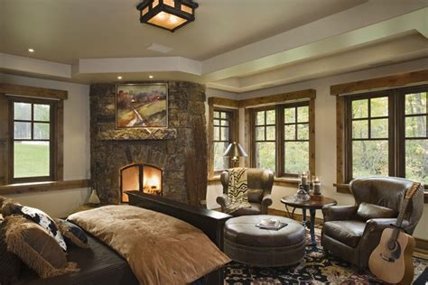 country style master bedroom rustic house design in western style ontario residence