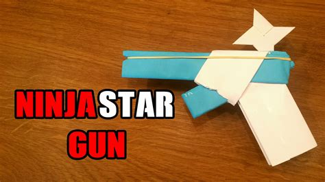 Easy Origami Gun - how to make a paper gun that shoots with