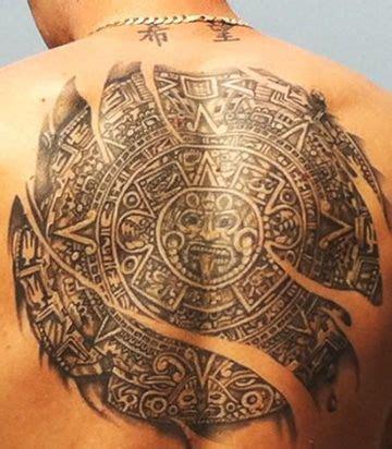 calendario azteca tattoo design tatuajes de calendario azteca en espalda tatuajes para