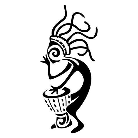 tribal drum tattoo kokopelli patterns