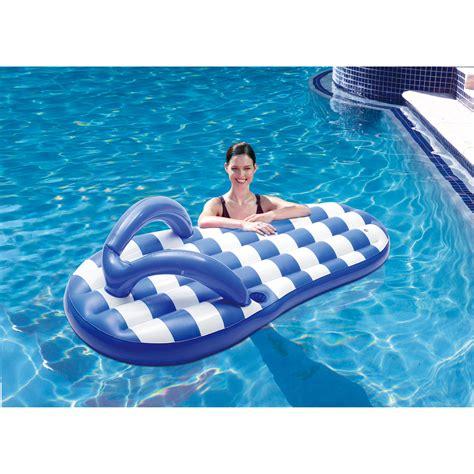 pool floats blue wave marine blue flip flop 71 in pool float swimming pool floats at hayneedle