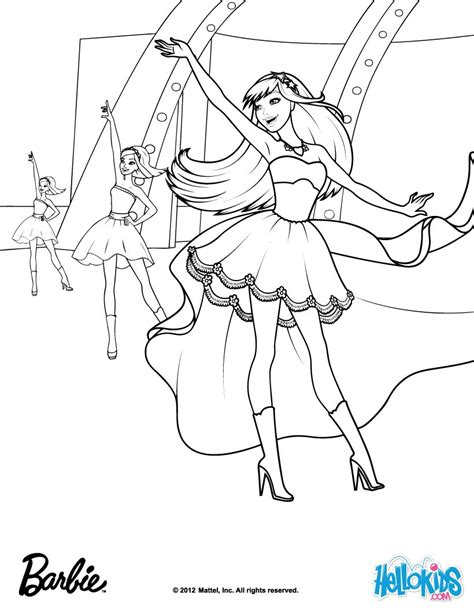 barbie princess and the popstar coloring pages to print