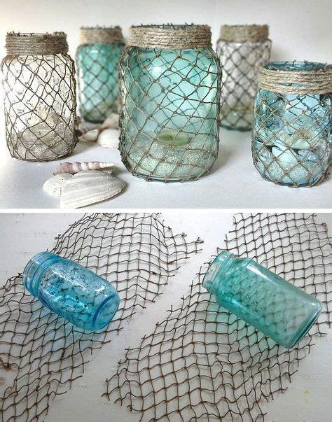 blue mosaic badezimmeraccessoires 30 diy home decor ideas on a budget fischernetz diy