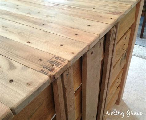 household diy projects for less than 50 how to make a pallet kitchen island for less than 50