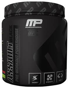 Mp Assault 30 Serving Suplemen Fitnes Pre Workout musclepharm assault black 30 serving cranked fitness