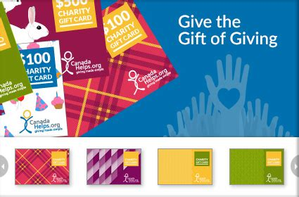 Charity Gift Cards Canada - canadahelps donate to any charity in canada