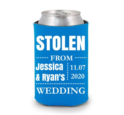 stolen  wedding koozie design
