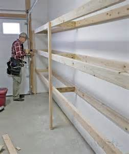 garage shelving designs ana white build a easy and fast diy garage or basement