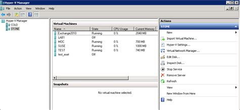 hyper v console virtualization and some coffee failover cluster manager