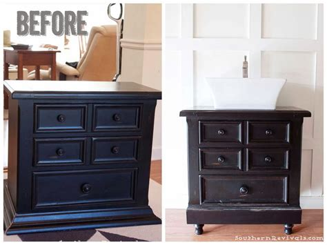 Americana Decor Chalky Paint by Turning Our Nightstand Into Our Bathroom Vanity