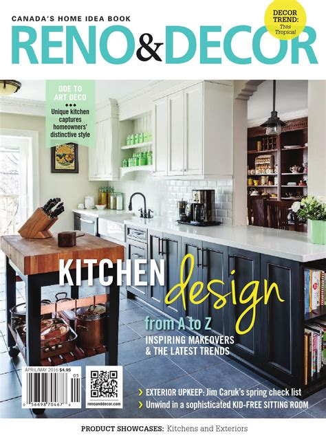 free home decor magazines canada reno decor magazine apr may 2016 by homes publishing