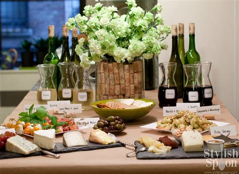 How To Decorate Home Without Spending Money Party Wine Amp Cheese Tasting Stylish Spoon
