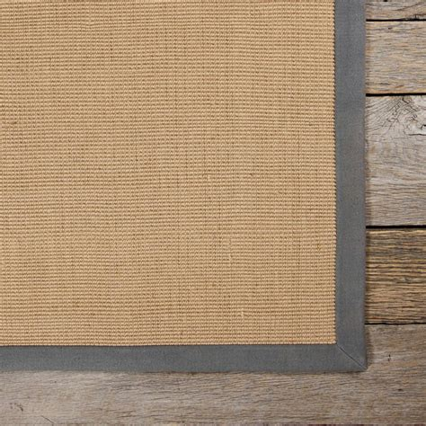 Rug With Border by Bay Sisal Rug With Grey Border By Chandra Rugs