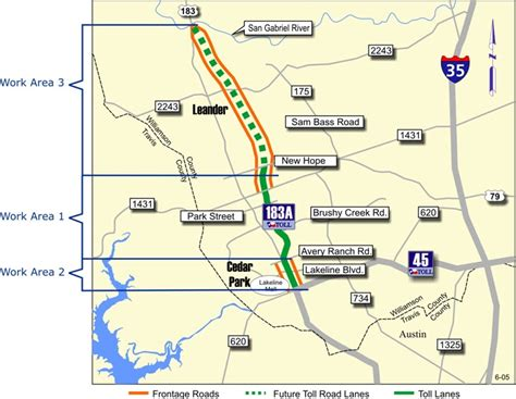 texas toll map mojo tolls in the news another section of 183a toll road opens