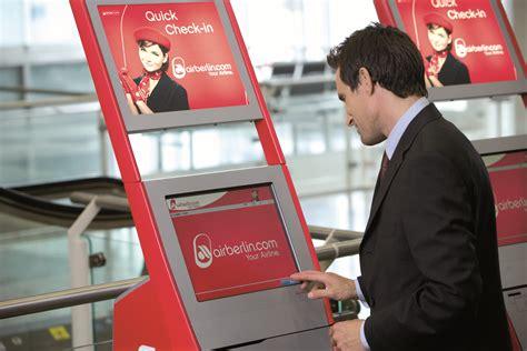 air berlin check inn bilder fr 229 n air berlin self service check in