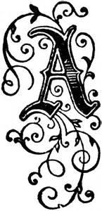 decorative letter a decorative letter a clipart etc