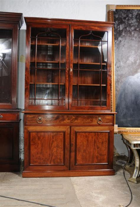 glass fronted bookshelves regency mahogany bookcase glass fronted display cabinet