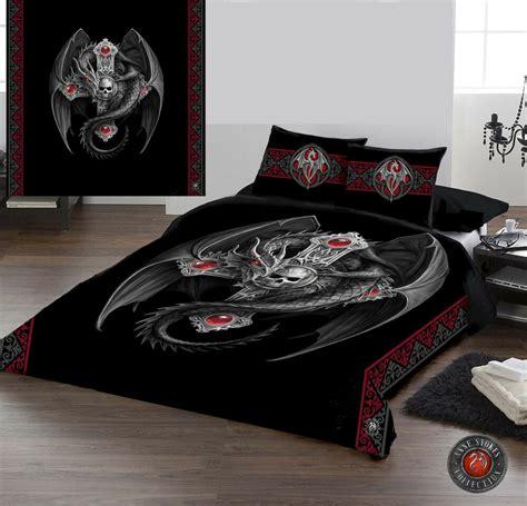 gothic dragon duvet cover set  double bed artwork