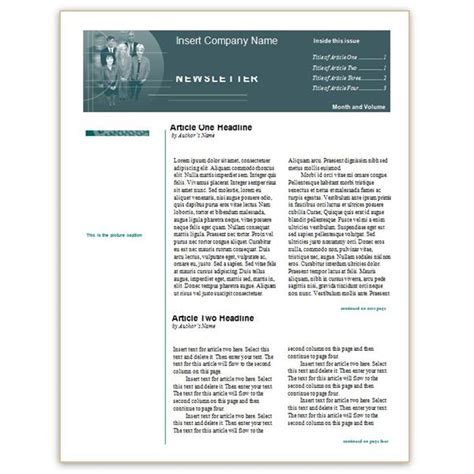newsletter template word free newsletter templates for word