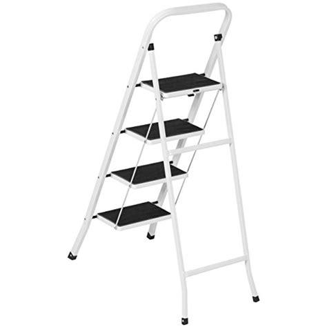 300 Lb Folding Step Stool by Step Stool Ladder 4 Step Folding Portable Heavy Duty Steel