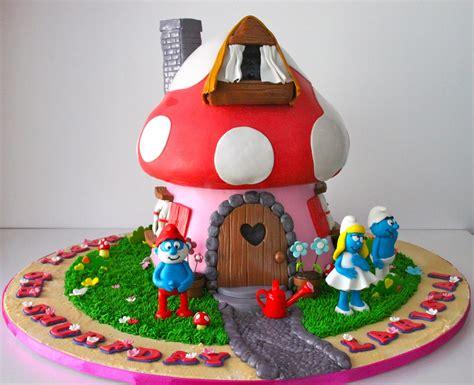 cake house celebrate with cake smurf house cake