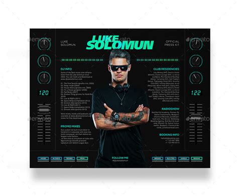 Madjestik Dj Press Kit Dj Resume Dj Rider Psd Template By Vinyljunkie Epk Press Kit Template