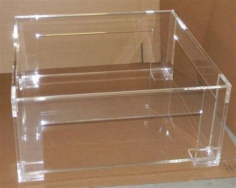 Acrylic Coffee Table With Shelf Lucite Clear Coffee Table With Shelf