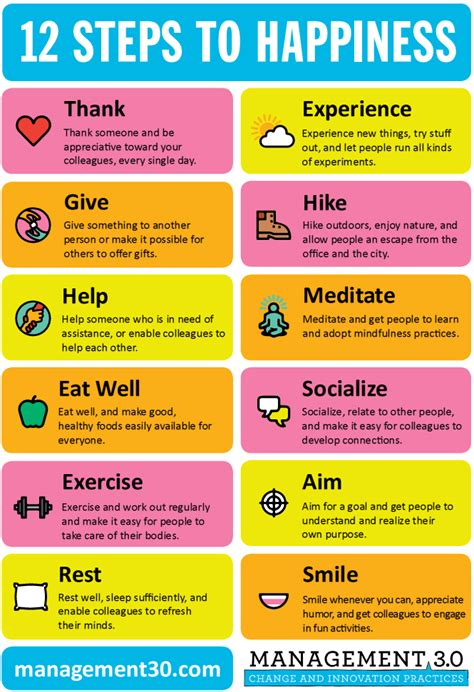 12 Nicest Ways To Get Out Of An Engagement by The 12 Steps To Happiness That You Create Infographic