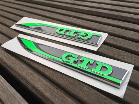 Gtd Aufkleber by Golf 7 Vii Neon Gr 252 N Gtd Performance Emblem Folien