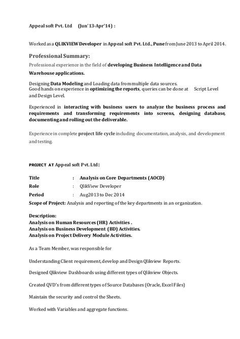 qlikview experience resumes resume ideas