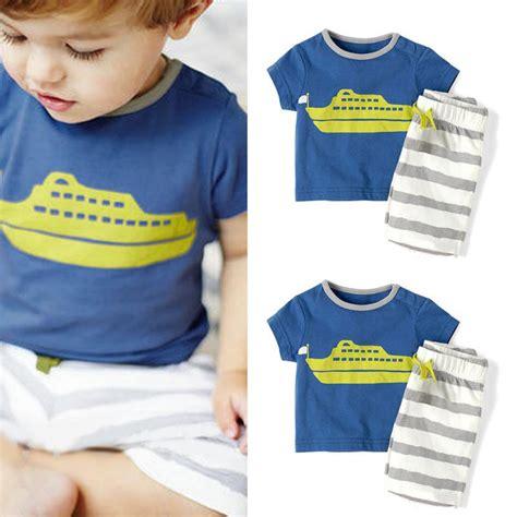 Setelan Kaos T Shirt Celana Pendek setelan kaos t shirt motif garis biru celana pendek