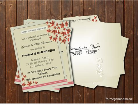 invitation card design for grand opening invitation card design grand opening by megamindmaan on