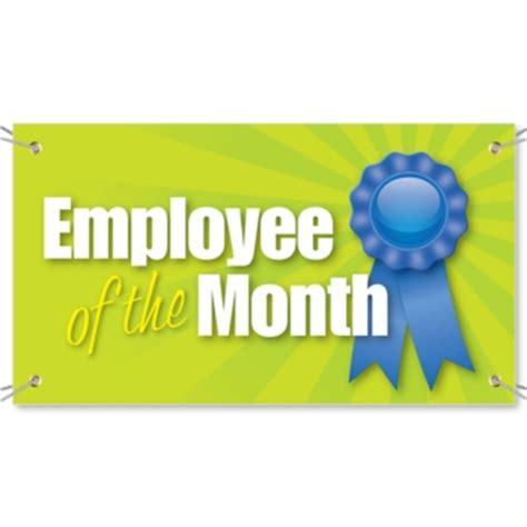 employee of the month vinyl banners custom printed by